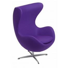 D2.DESIGN Fotel Jajo fioletowy kaszmir 4 Premium