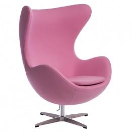 D2.DESIGN Fotel Jajo kaszmir rożowy 84 Premium
