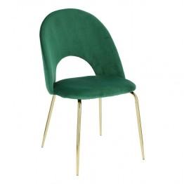 INTESI Krzesło Solie Velvet zielone/złote