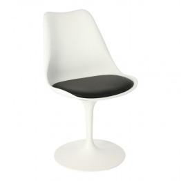 SIMPLET Krzesło Tulip Basic białe/czarna poduszk a