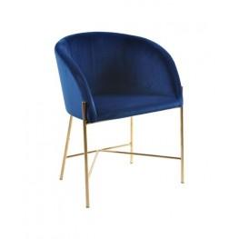 ACTONA Fotel Nelson VIC niebieski/złota podstaw a