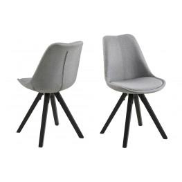 ACTONA Krzesło Dima light grey/black