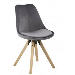 ACTONA Krzesło Dima VIC dark grey/wood
