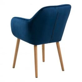 ACTONA Krzesło Emilia Velvet deep blue