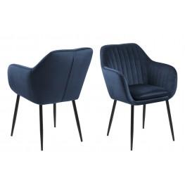 ACTONA Krzesło Emilia Velvet deep blue/black
