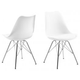 ACTONA Krzesło Eris PP białe/chrom