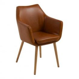 ACTONA Krzesło Nora Brandy PU