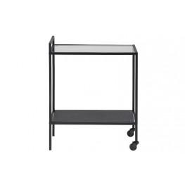 ACTONA Wózek barowy Seaford Czarny/Szkło