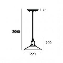 ALTAVOLA DESIGN Lampa wisząca Eindhoven Loft 3