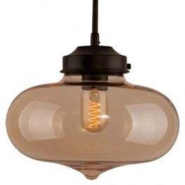 ALTAVOLA DESIGN Lampa wisząca London Loft 1 bursztyn