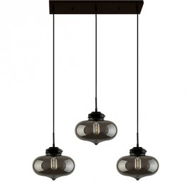 ALTAVOLA DESIGN Lampa wisząca London Loft 1 CL dymiona