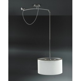 D2.DESIGN Lampa Finger Mov klosz beż, śr. 45 cm