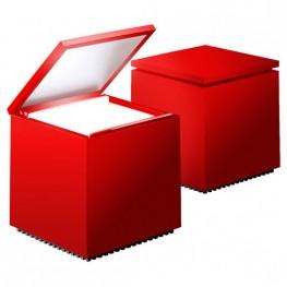 D2.DESIGN Lampka Cuboluce czerwona