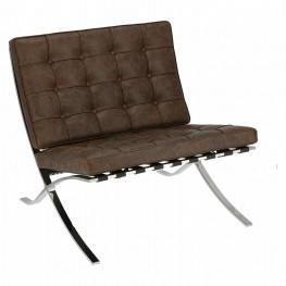 D2.DESIGN Fotel BA1 brązowy ciemny vintage