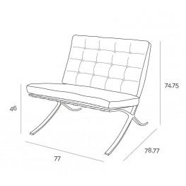 D2.DESIGN Fotel BA1 skóra naturalna czarna