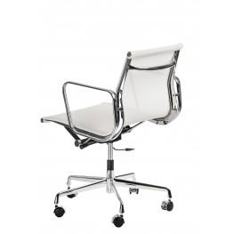 D2.DESIGN Fotel biurowy CH1171T Biały - Chromowane nogi