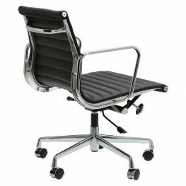 D2.DESIGN Fotel biurowy CH1171T czarna skóra,chrom