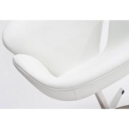 D2.DESIGN Fotel Cup biała skóra 01