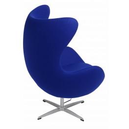 D2.DESIGN Fotel Jajo atramentowy kaszmir 27 Premium