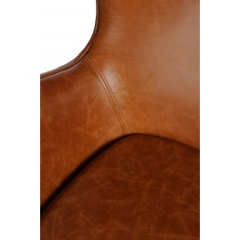 D2.DESIGN Fotel Jajo brązowy jasny vintage Premium