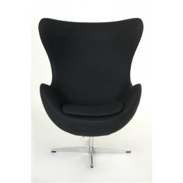 D2.DESIGN Fotel Jajo czarny kaszmir 1 Premium