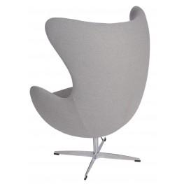 D2.DESIGN Fotel Jajo popielaty 129 Premium