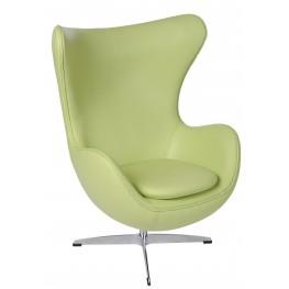 D2.DESIGN Fotel Jajo zielona skóra 10 Premium