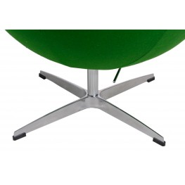D2.DESIGN Fotel Jajo zielony kaszmir 20 Premium