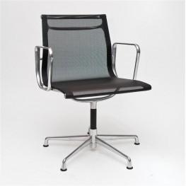 D2.DESIGN Fotel konf. CH1081T,czarna siateczka,chr