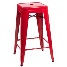 D2.DESIGN Hoker Paris 75 cm czerwony insp. Tolix