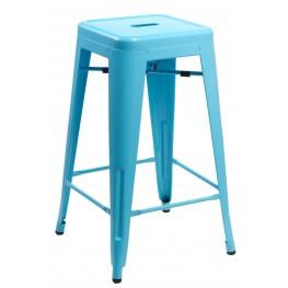 D2.DESIGN Hoker Paris 75cm. niebieski insp. Tolix