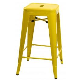 D2.DESIGN Hoker Paris 75 cm inspirowany Tolix - Żółty
