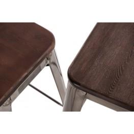 D2.DESIGN Hoker Paris Wood 65cm czerw sosna szczot