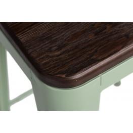 D2.DESIGN Hoker Paris Wood 75cm zielony sosna szcz otkowana