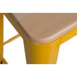 D2.DESIGN Hoker Paris Wood 75cm żółty sosna natura lna