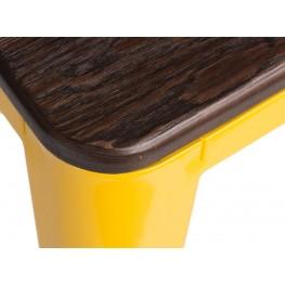 D2.DESIGN Hoker Paris Wood 75cm żółty sosna szczot kowana
