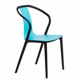 INTESI Krzesło Bella - Czarne / Niebieskie