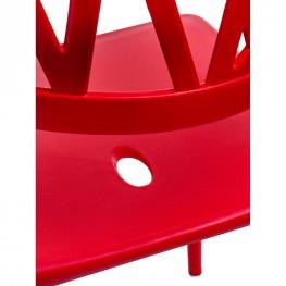 D2.DESIGN Krzesło Bush czerwone