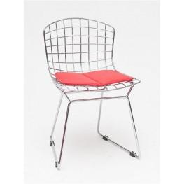 D2.DESIGN Krzesło dziecięce Harry Junior czerwona poduszka
