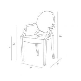 D2.DESIGN Krzesło dziecięce Royal Jr fioletowy transparentny