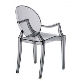 D2.DESIGN Krzesło dziecięce Royal Jr. transparentn y dymiony