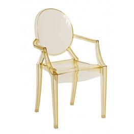 D2.DESIGN Krzesło dziecięce Royal Jr. żółty transparent