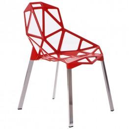 D2.DESIGN Krzesło Gap czerwone