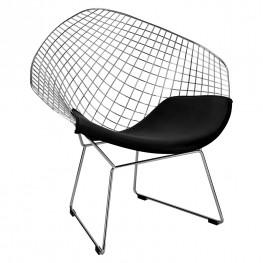 D2.DESIGN Krzesło HarryArm czarna poduszka