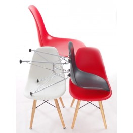 D2.DESIGN Krzesło Junior P016 - Białe, chromowane nogi