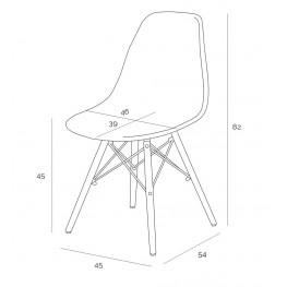 D2.DESIGN Krzesło P016 Clear