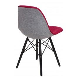 D2.DESIGN Krzesło P016W Duo czer. szare/black