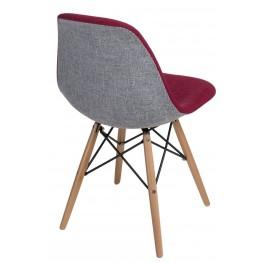 D2.DESIGN Krzesło P016W Duo czerwono szare