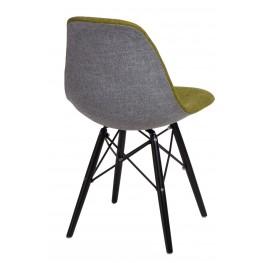 D2.DESIGN Krzesło P016W Duo ziel. szare/black