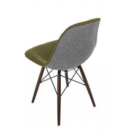 D2.DESIGN Krzesło P016W Duo ziel. szare /dark